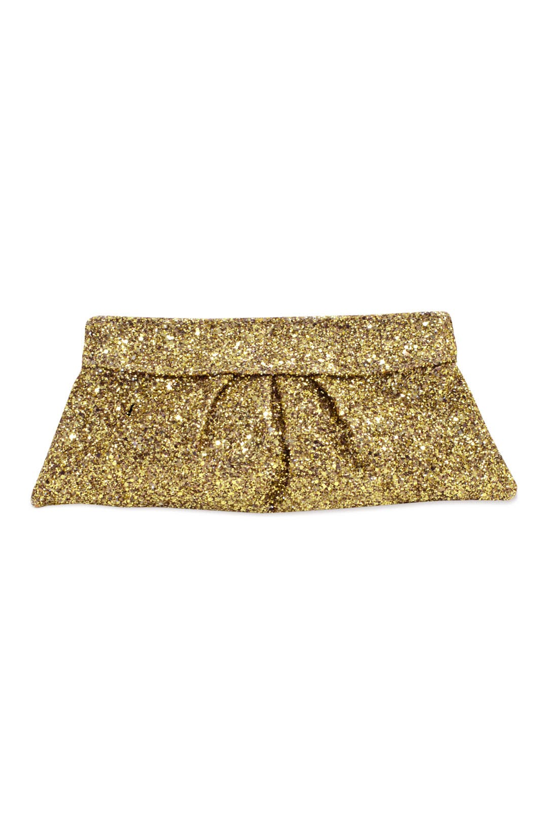 Gold Eve Glitter Encrusted Clutch by Lauren Merkin