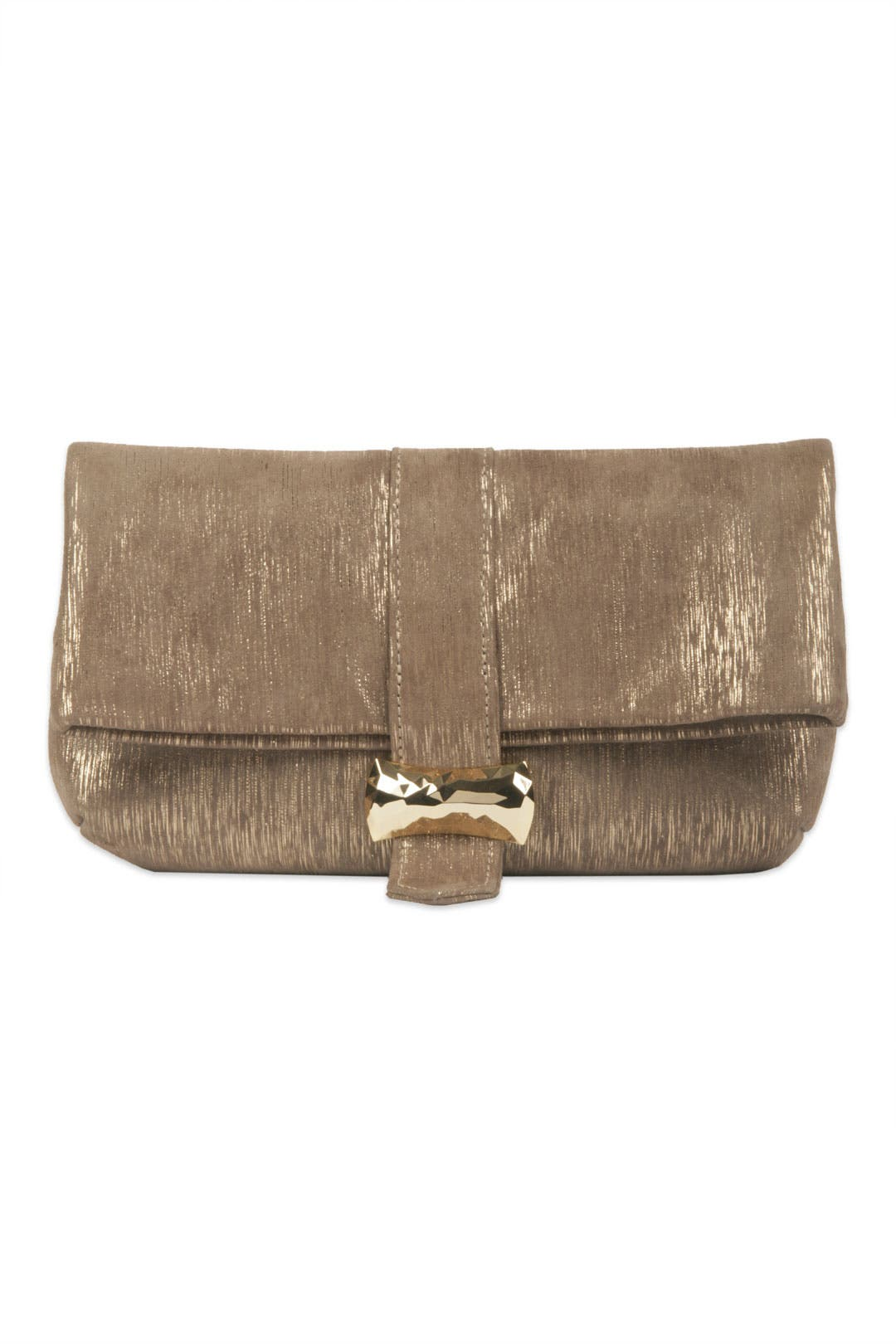 Hudson Metallic Lines Clutch by Lauren Merkin