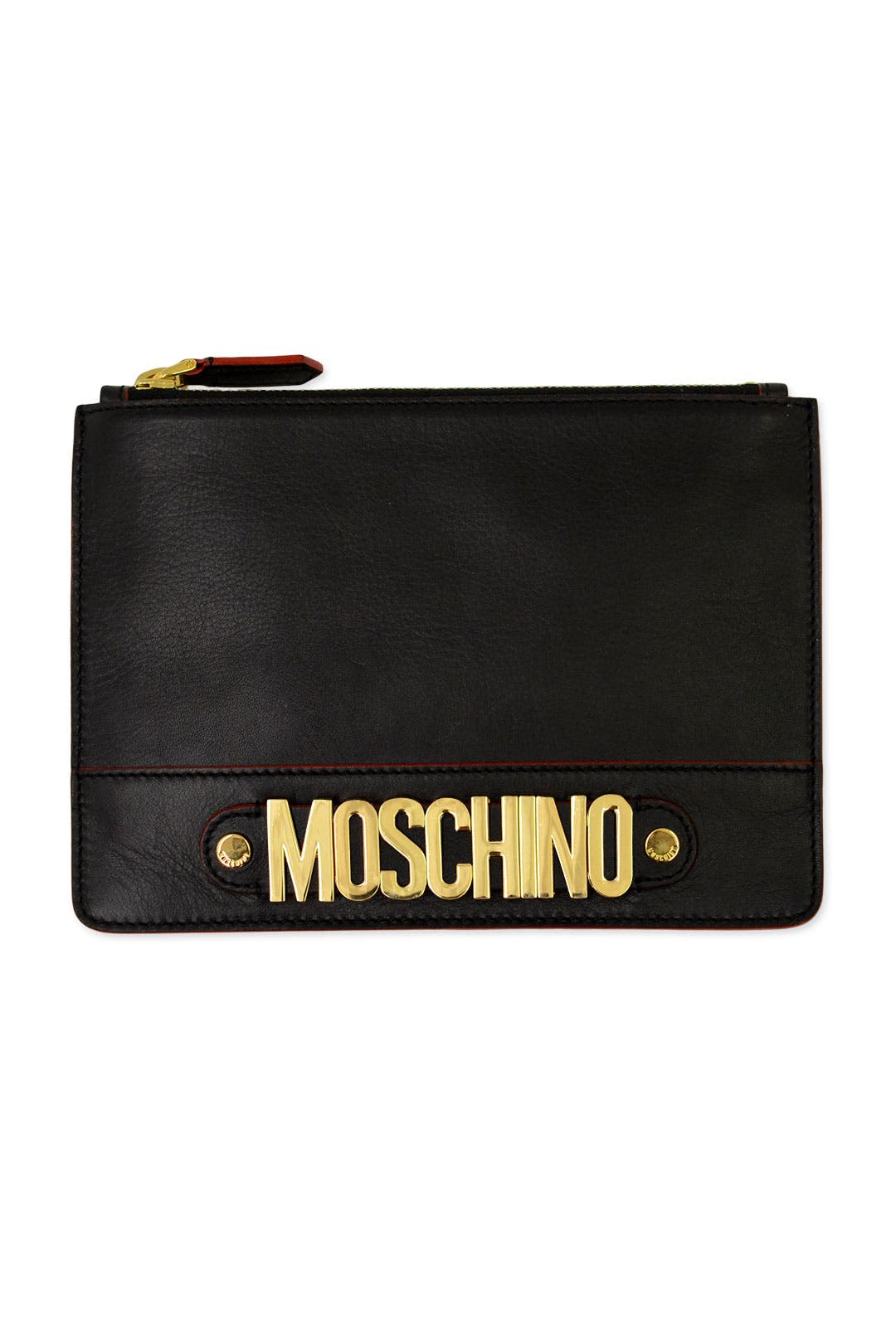 Jet Zip it To Me Clutch by Moschino Accessories
