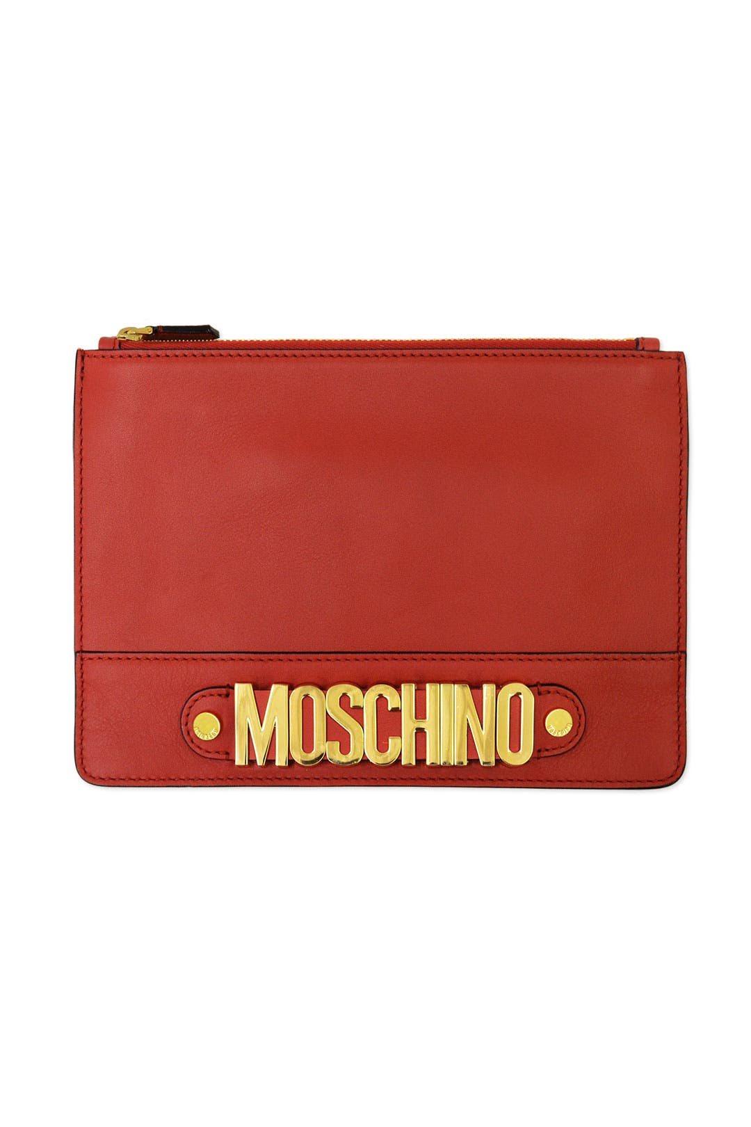Zip it To Me Clutch by Moschino Accessories