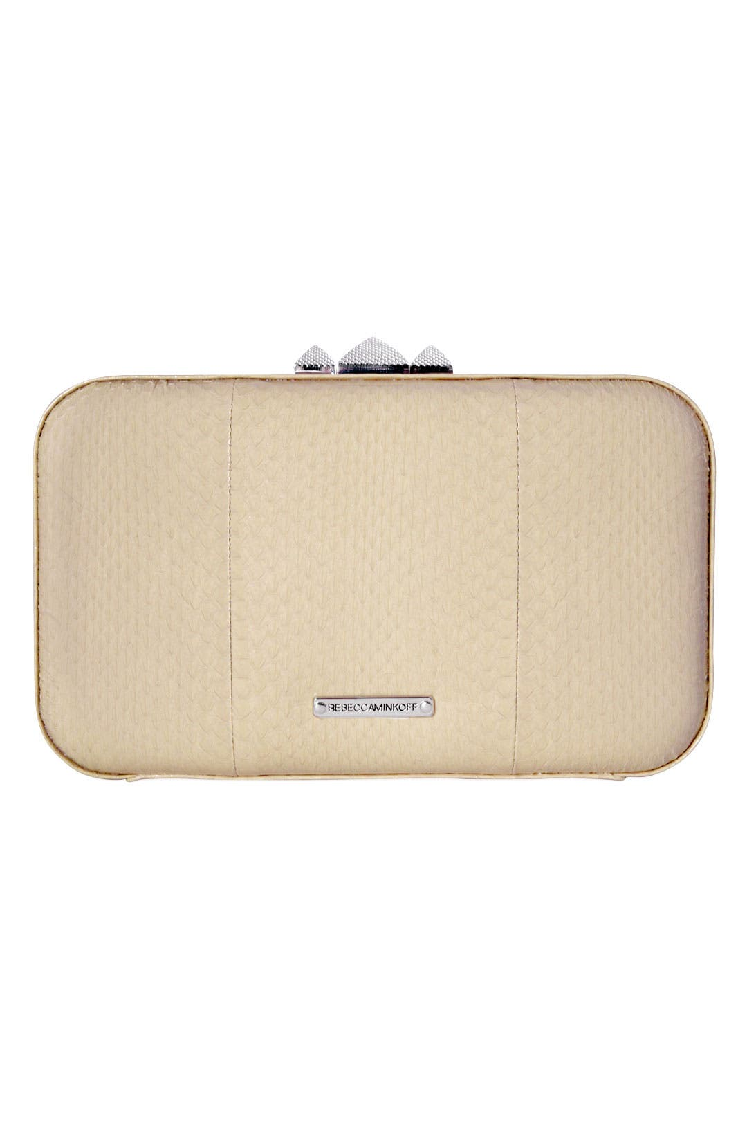 Eggshell Watersnake Clutch by Rebecca Minkoff Handbags