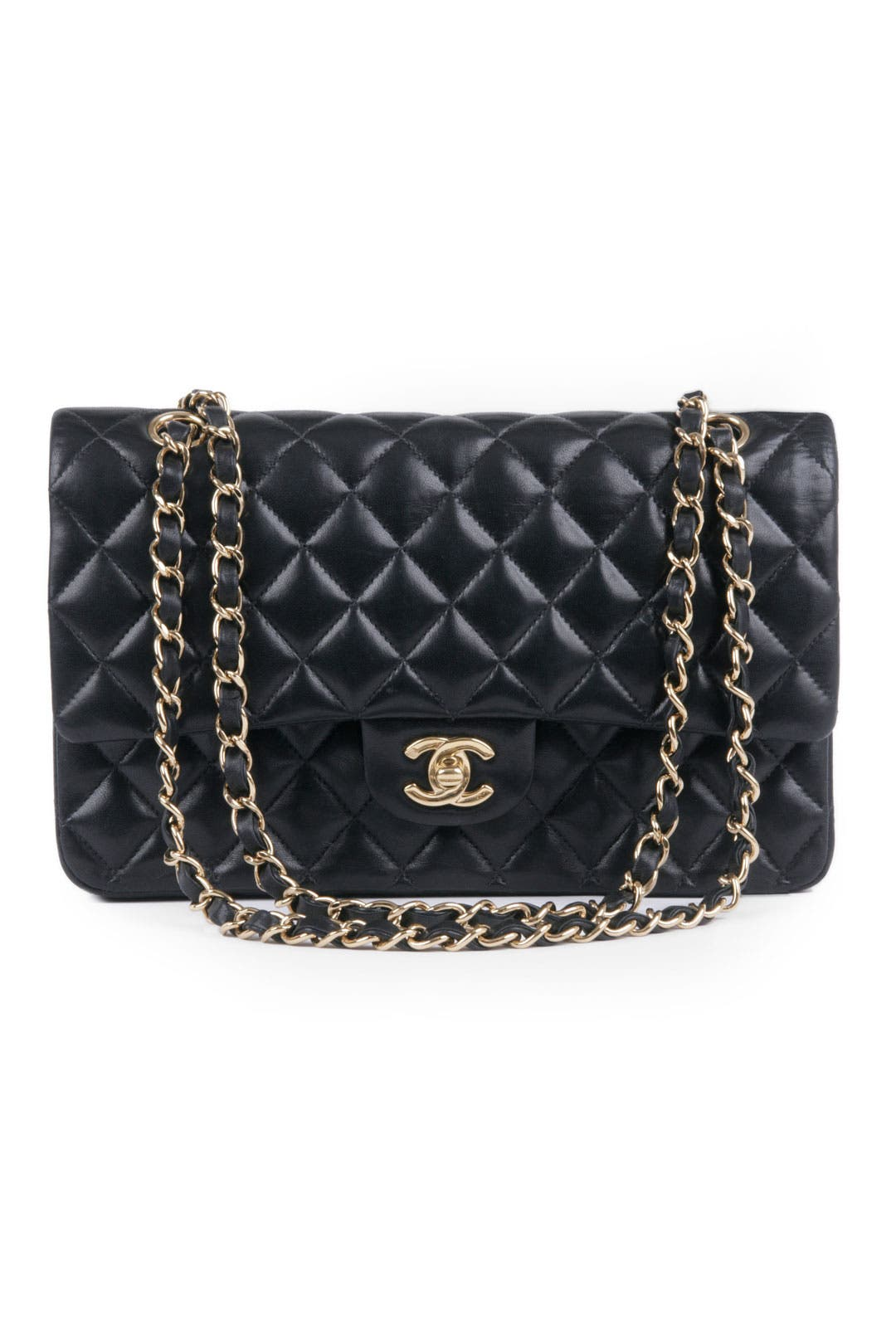 Vintage Chanel Classic Black Coco Bag by WGACA Vintage
