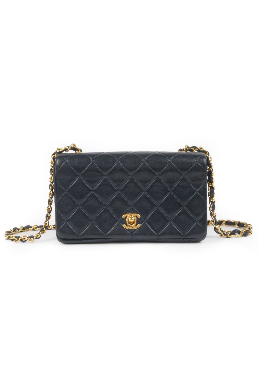 Vintage Chanel Navy Quilted Bag by WGACA Vintage