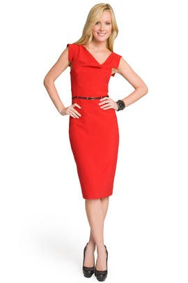 Black Halo - Red Jackie O Dress