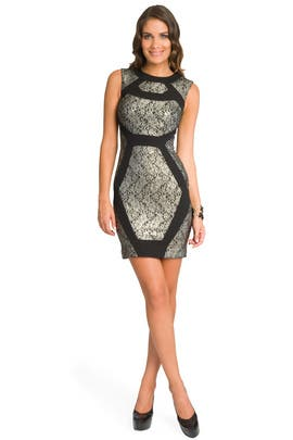 Prabal Gurung - Geometric Metallic Lace Dress