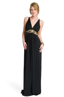 Robert Rodriguez Black Label - Sequin Trim Empire Gown