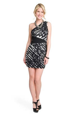 Robert Rodriguez Collection - Graphic Shoulder Dress