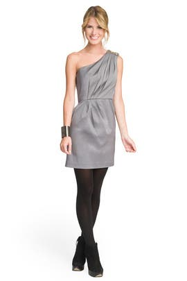 Shoshanna - Silver Sensation One Shoulder Dress
