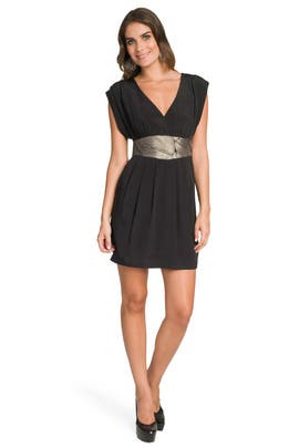 Tibi - Black Embroidered Keyhole Dress