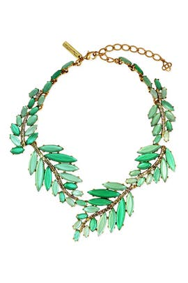Oscar de la Renta - Marquise Leaf Necklace