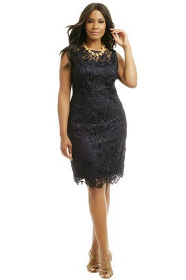 Adrianna Papell - Dainty Danika Goes Navy Sheath