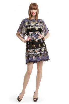 Anna Sui - Black Metallic Rose Sheath