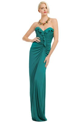 Badgley Mischka - Aqua Queen Gown