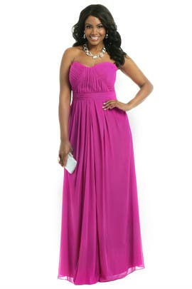 Badgley Mischka - Chiffon Goes Fuschia Gown