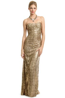 Badgley Mischka - Gold Glitterati Gown