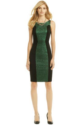 Badgley Mischka - Green Illusionist Sheath