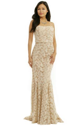 Badgley Mischka - Ivory Dianthus Gown