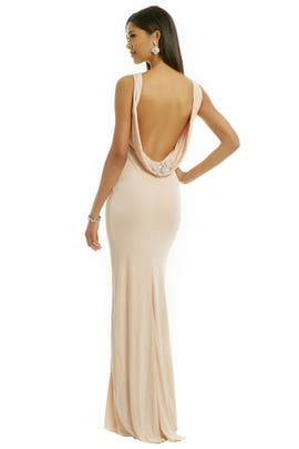 Badgley Mischka - Jeweled Halo Gown