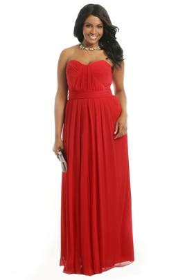 Badgley Mischka - Lipstick Red Gown