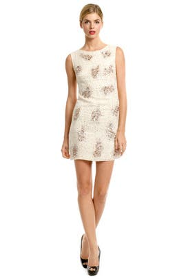 Badgley Mischka - Nude Sequin Cluster Sheath