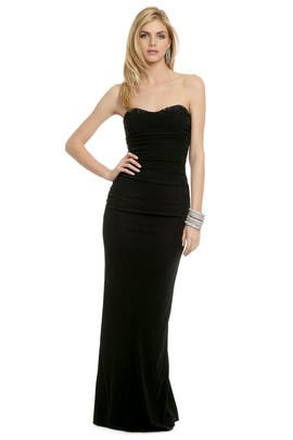 Badgley Mischka - Ruched Sweetheart Gown