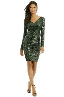 Badgley Mischka - Sequin Shamrock Dress