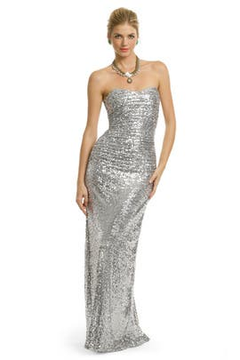 Badgley Mischka - Sequin Stardust Gown