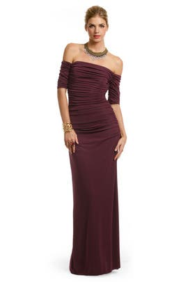 Badgley Mischka - Venetian Wine Gown