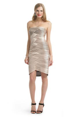 BCBGMAXAZRIA - Champagne Hypnotizer Dress