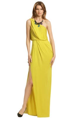 BCBGMAXAZRIA - Lemon With Lime Gown