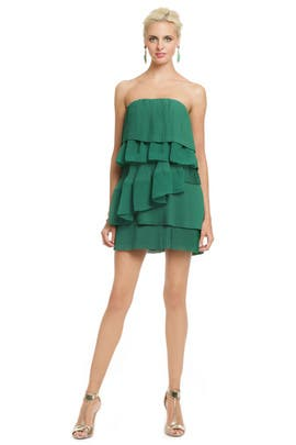 camilla and marc - Green Palm Party Dress