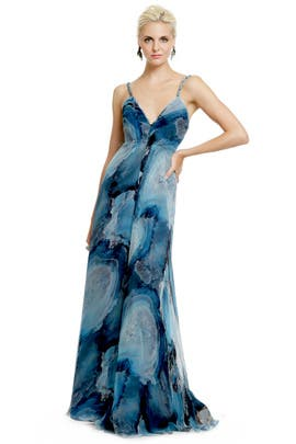 Carlos Miele - Deep Sea Storm Gown