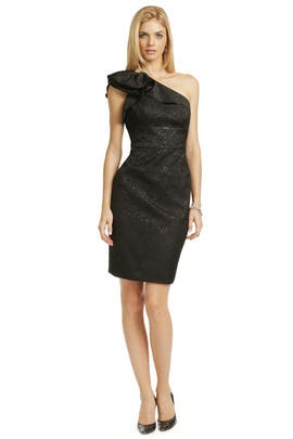 Carmen Marc Valvo - Black Truffle Dress