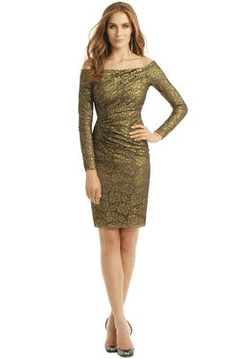 Carmen Marc Valvo - Gold Idol Dress