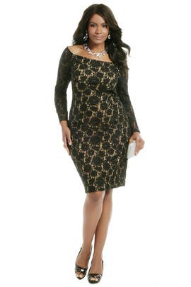 Carmen Marc Valvo - Little Lace Secrets Dress