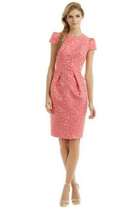 Carmen Marc Valvo - Rosette Envelope Dress