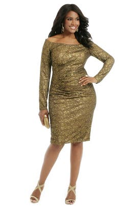 Carmen Marc Valvo - Rush Of Gold Dress