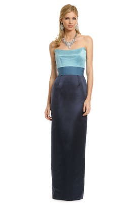Chris Benz - Blue Qui Contrast Gown