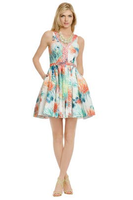 Christian Cota - Coral Sea Urchin Dress