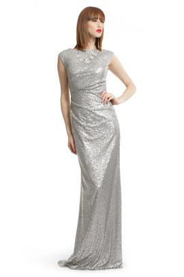 David Meister - Silver Sequin Shine Gown