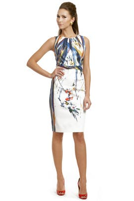 Elie Tahari - Colorful Canvas Sheath