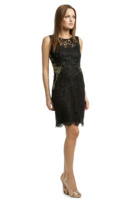 Elie Tahari - Gold Infused Lace Sheath