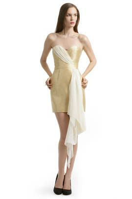 ERIN erin fetherston - Mikade Gold Sash Dress
