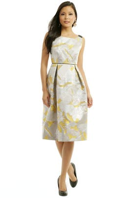 Giles - Gold Pegasus Jacquard Dress