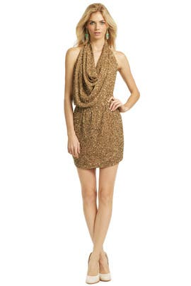Haute Hippie - Paint Me Gold Dress