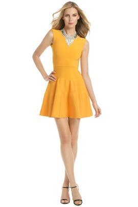 Issa - Amber Orange Flippy Dress