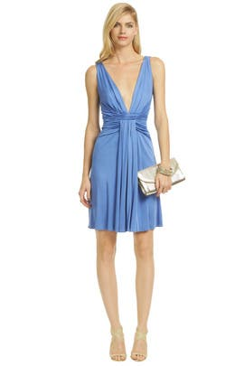 Issa - Plunging Deep V Drape Dress