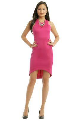 Josh Goot - Fuchsia Future Basics Cut Away Dress