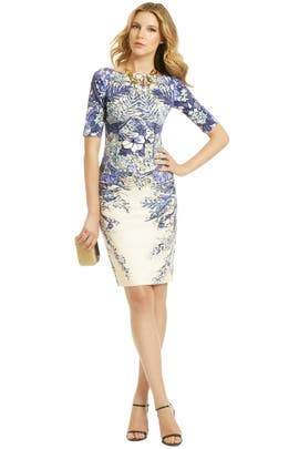 Lela Rose - Blaue Blume Dress