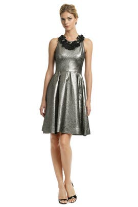 Lela Rose - Metallic Mars Dress